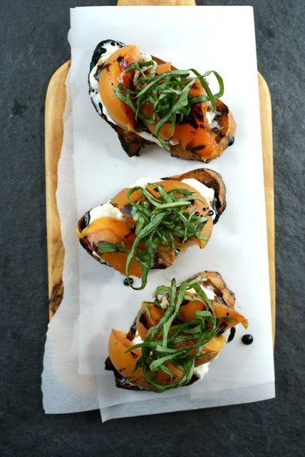 ... Suburban Gourmet: Grilled Apricot Crostini   Friday Night Bites