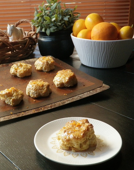 Glazed Orange Scones | Something Savory *made on Easter - I used blood ...
