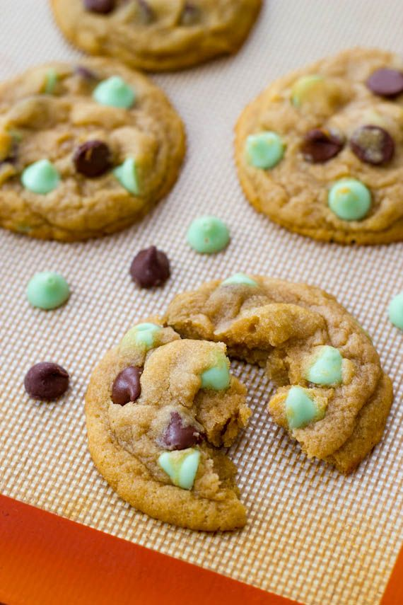 Mint Chocolate Chip Cookies | Casie Crocker | Pinterest