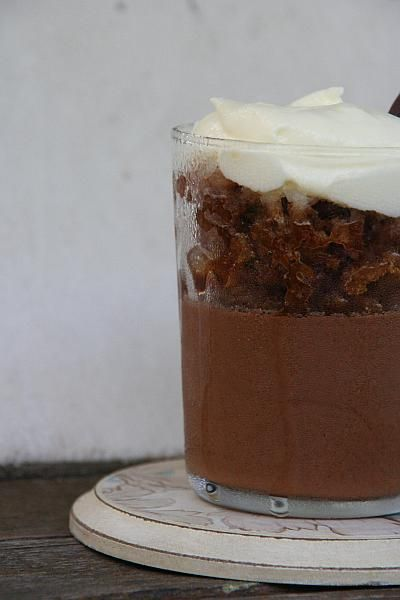 Chocolate Mousse With Coffee Granita | Frozen desserts | Pinterest