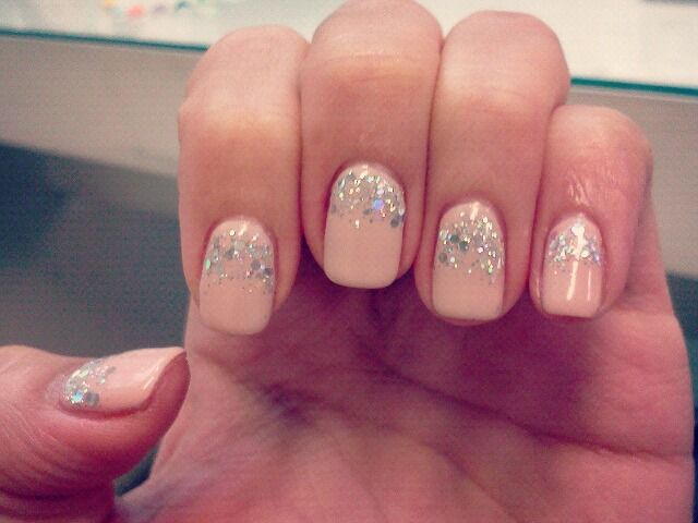 Pink Glitter Gel Nail Polish Pink Gel Nails With