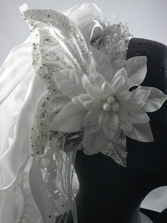 leather billfold VEIL FLOWERS  Fairy wedding ideas