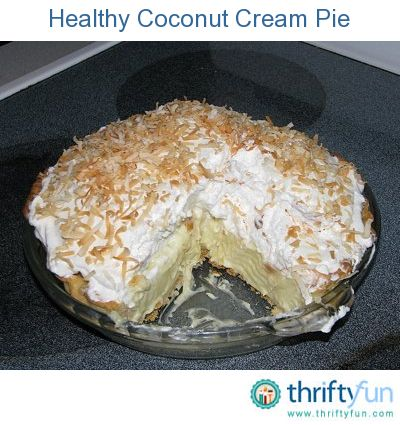 My husband's favorite dessert has always been coconut cream pie.  He and I are both doing Weight Watchers, so I made this light version for his birthday. The pie turned out fabulous.
