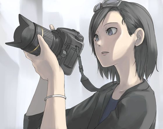 Anime Ninja Girl With Silver Hair And Blue Eyes