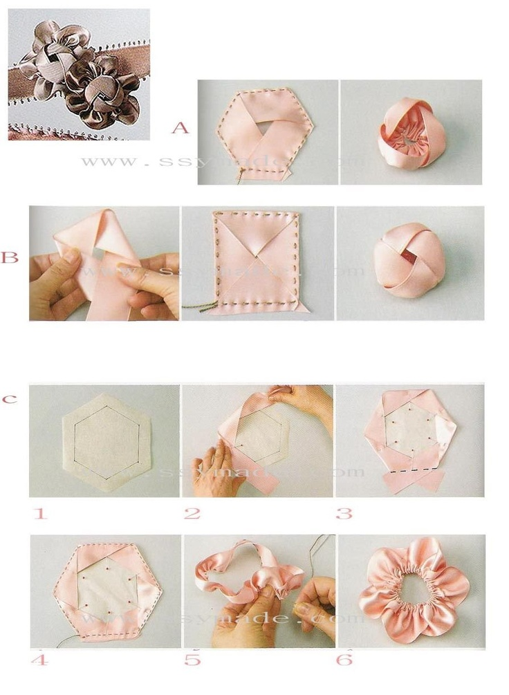 flower ribbon tutorial