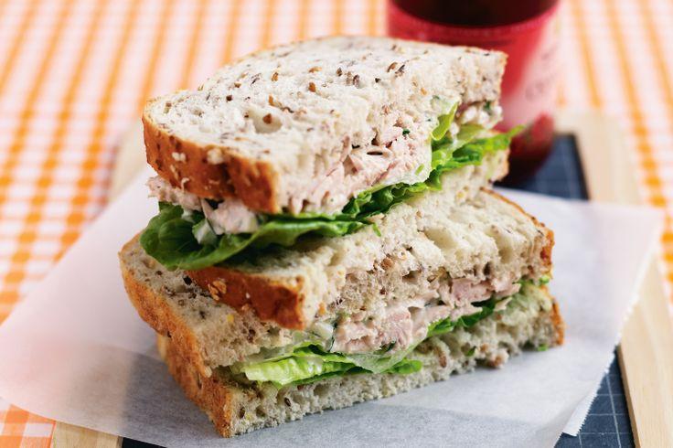 Tuna, celery & mayo sandwich | Seafood for Kids | Pinterest