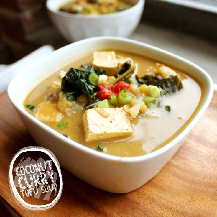 coconut curry tofu soup | Health Recipes | Pinterest