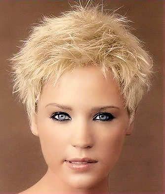 Blonde spiky design slightly feathered for softness. | Short & Spiky ...