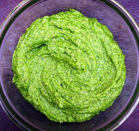 : Swiss Chard Pesto - this is delicious! I wilted the Swiss chard ...