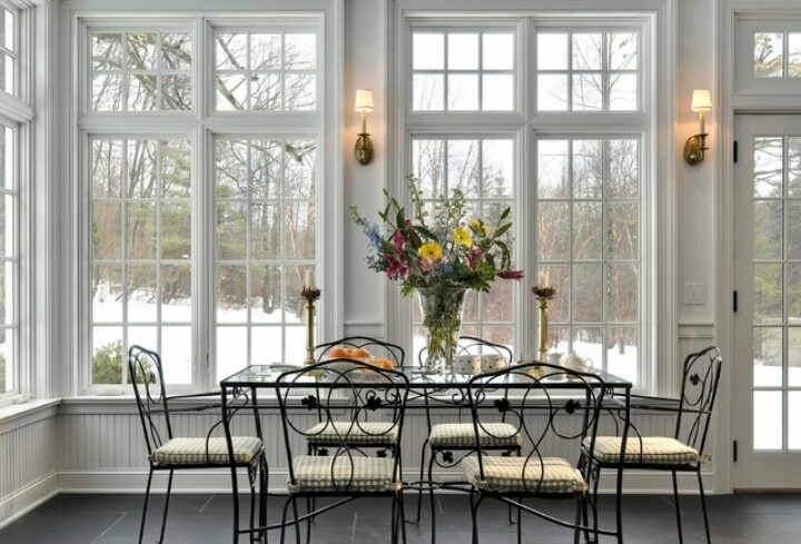 Traditional dining area of sunroom sun rooms pinterest for Traditional dining room pinterest