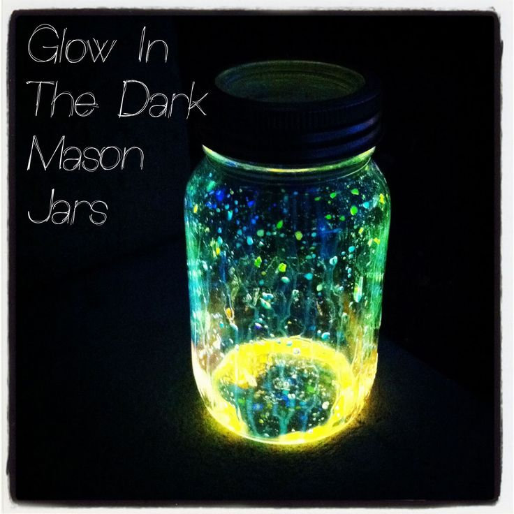 """Graduation party idea for evening table centerpiece Glow In the Dark Mason Jars Aka """"Fairies"""" This is the insides from a glowstick. I have also seen glitter added. These can glow for up to 6 hours, What a great idea for an outdoor party that is at night time. It Would be a great thing to do with the kids on a dark summer night too:)"""