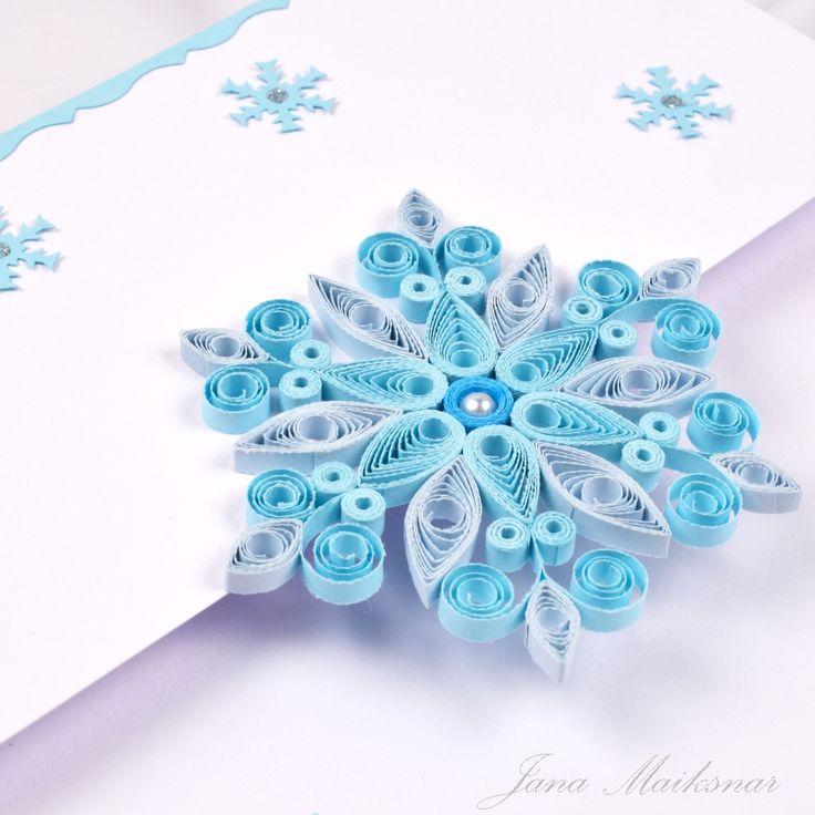 Snowflakes quilling pinterest - Copos de nieve manualidades ...