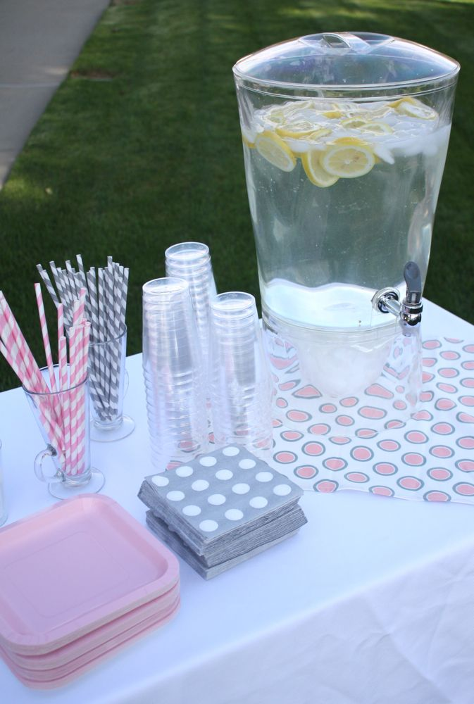 pink and grey baby shower pinterest