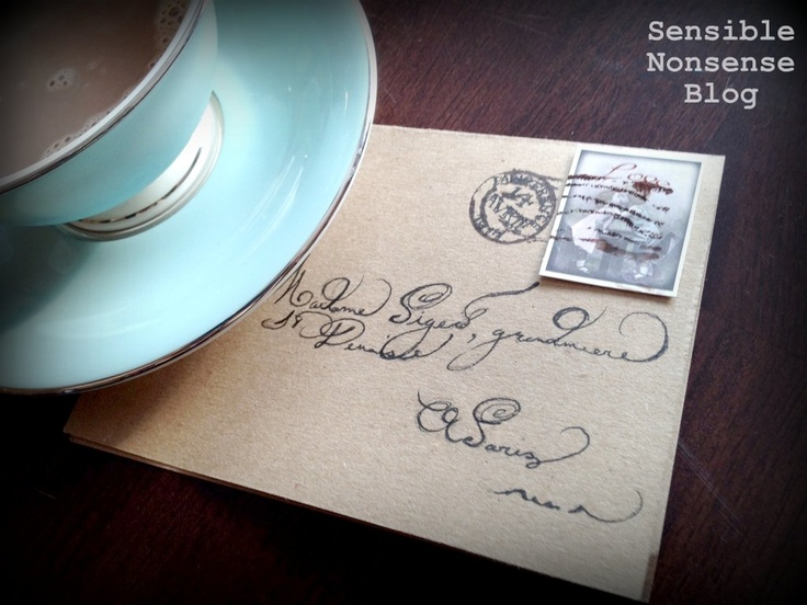 Vintage French Postmark Stamp Tutorial... you probably have everything you need to make this in your home already! Makes great book insignia's and would look SO pretty on a notebook....
