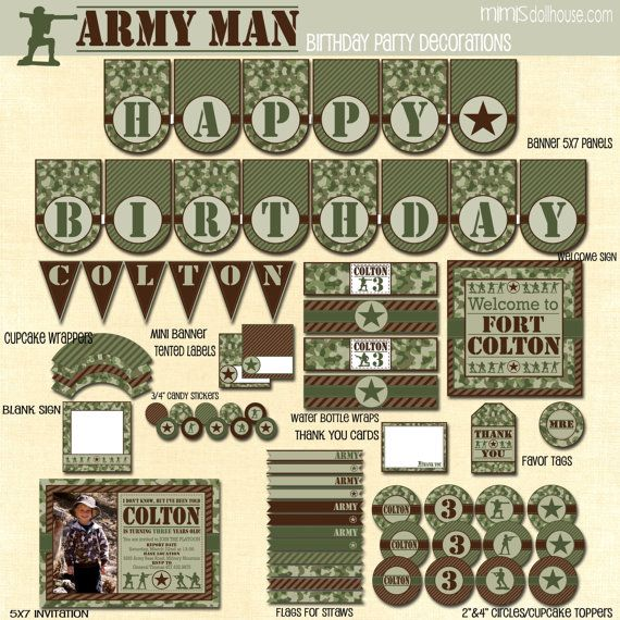 Pinterest discover and save creative ideas for Army party decoration ideas