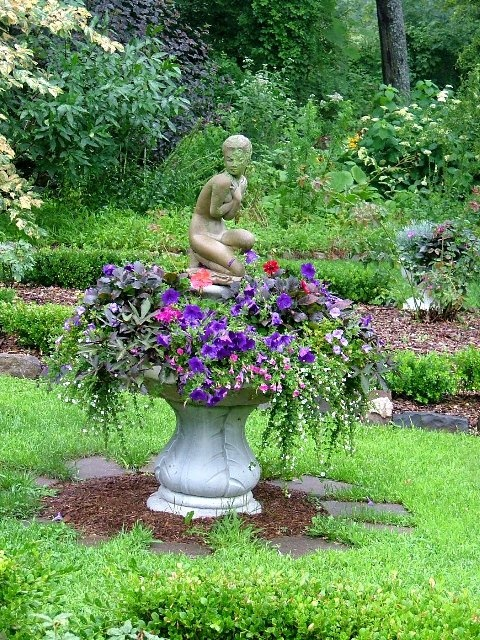 Fountain Planter Garden Ideas Pinterest