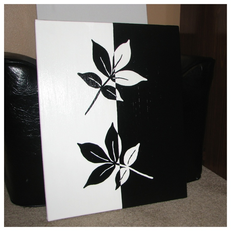 black and white leaves painting teaching ideas pinterest