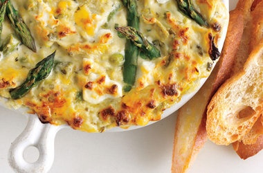 Spring Vegetable and Goat Cheese Dip — Punchfork