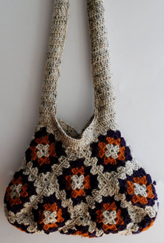 Crochet Granny Square Bag : crochet granny square motif purse bag by KristisTwist on Etsy, $90.00