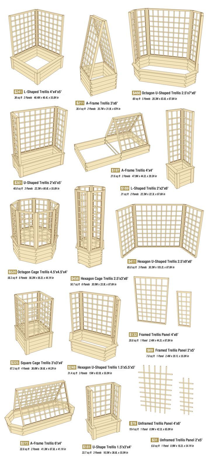 Ideas for a trellis just this image interesting info for Trellis design ideas