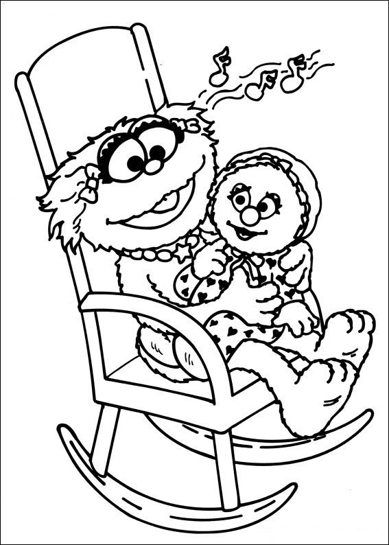 baby sesame street coloring pages - photo#44