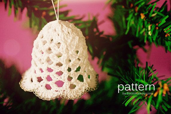 Crochet Pattern - Crochet Christmas Bells (Pattern No. 020) - INSTANT ...