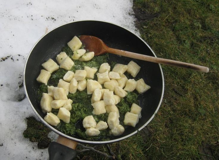 Ricotta-Gnocchi mit Rucola-Walnuss-Pesto