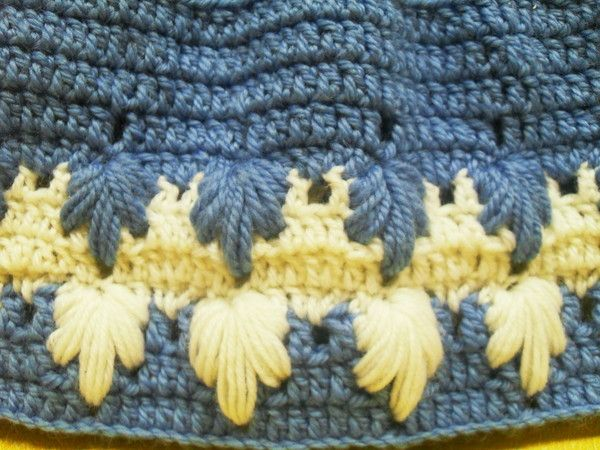 Crochet Stitches Larksfoot : ... www.crochetgeek.com/2009/04/larksfoot-crochet-pattern-stitch-baby.html
