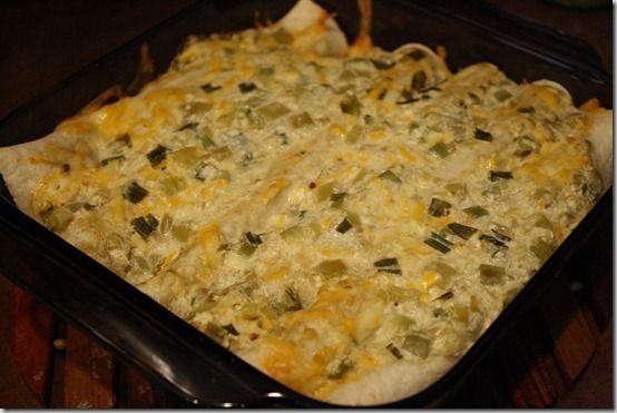 white chicken enchiladas. | Healthier Chicken/Turkey Recipes | Pinter ...