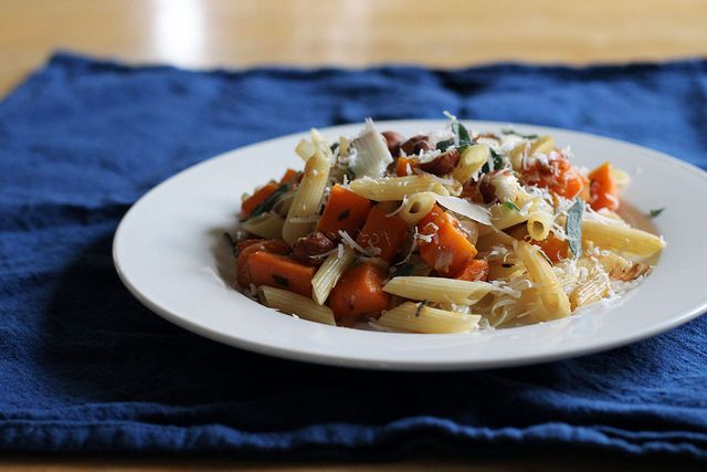 Butternut Squash And Parmesan Pasta With Sage Recipe — Dishmaps