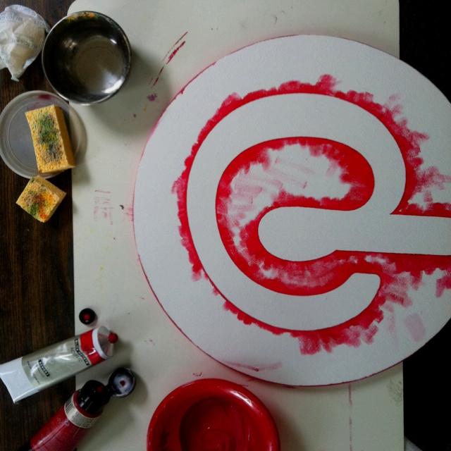 pintura, rojo, pinterest, esponjas, blanco