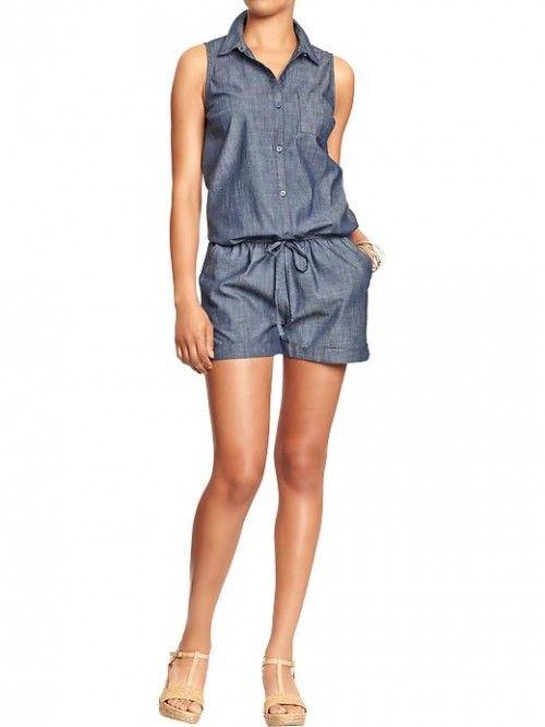 Pin by fashion stylist on one piece weekend wear pinterest for Denim shirt women old navy