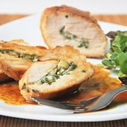 Chicken stuffed with ricotta and herbs | Recipes - Chicken | Pinterest