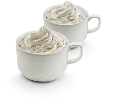 Swiss Mocha or French Vanilla flavored coffee, at IHOP.