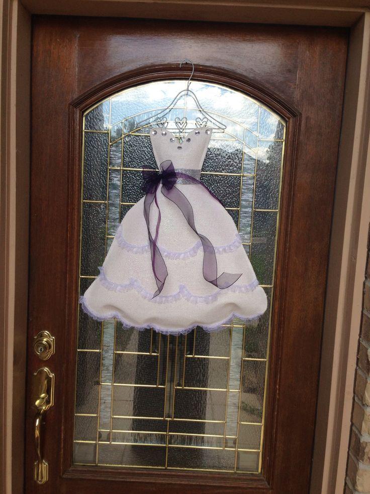Bridal shower door decoration bridal shower pinterest for Wedding door decorating ideas
