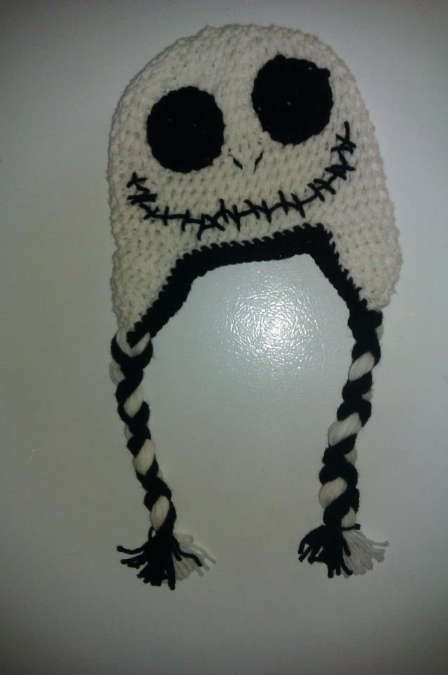 Crochet Jack Skellington : TNBC- Jack Skellington crocheted hat Crochet Pinterest
