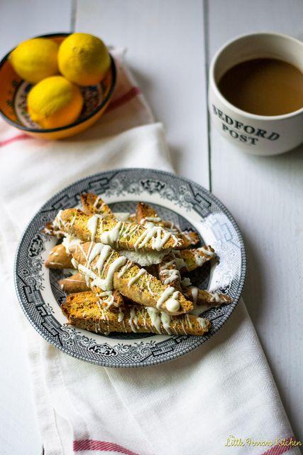 Lemon Pistachio and White Chocolate Biscotti via LittleFerraroKitchen ...