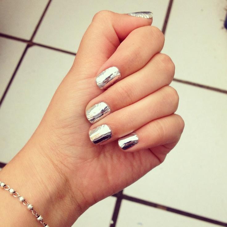 Mirror nail polish nails pinterest for Mirror nail polish