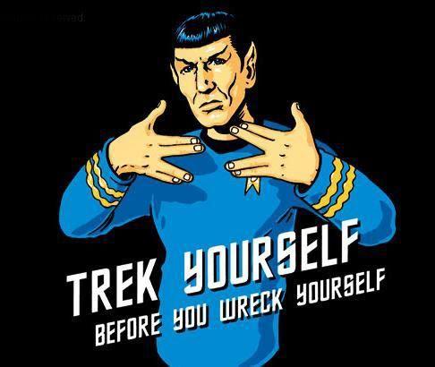 Star Trek Spock Leonard Nimoy Gangsta Funny