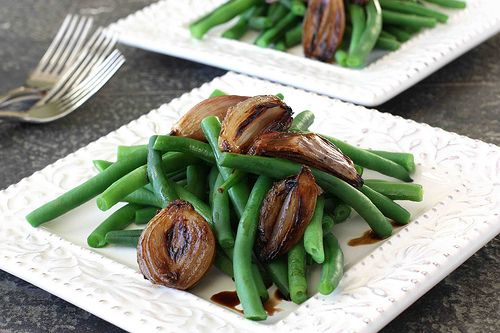 Green Beans with Balsamic Roasted Shallots. I made something so ...
