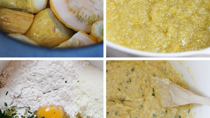 Summer Squash and Chive Pancakes | Food | Pinterest