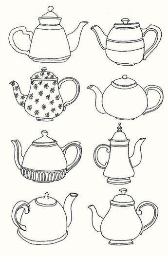 Tea Pot Line Drawings Lucy   Teapot Drawing Tumblr