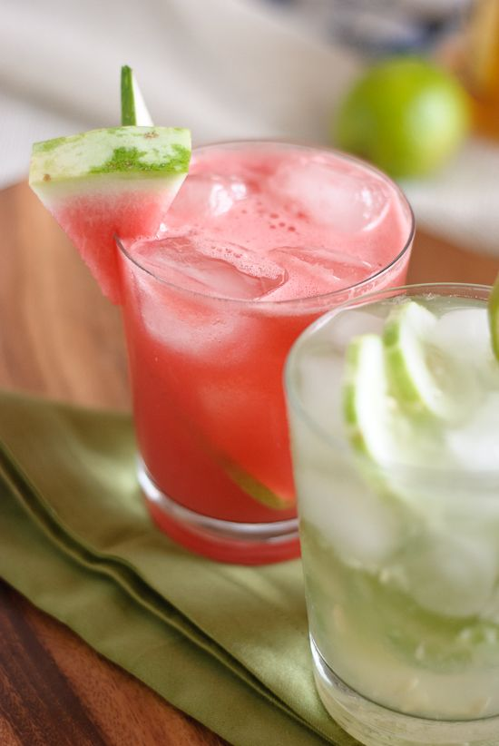 cucumber cooler...Blend together watermelon, cucumbers, honey, lime ...