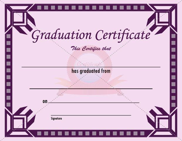graduation certificate templates - graduation certificate