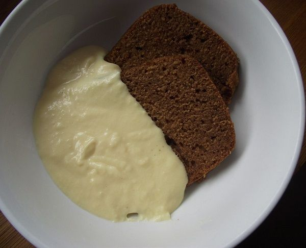 samoan puligi steamed pudding with home made pouring custard