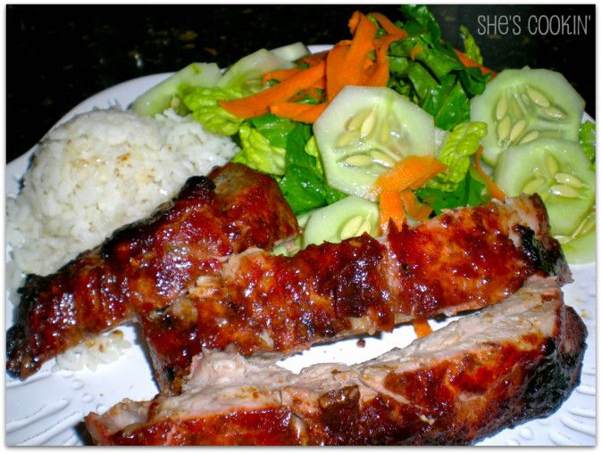 Pork Ribs with Hoisin Barbecue Sauce and #grilling tips from Bobby ...
