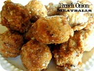 Slow Cooker French Onion Meatballs Recipe- only takes 2 ingredients ...