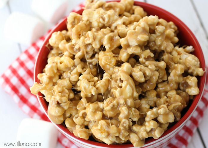 Caramel Marshmallow Popcorn | Recipe
