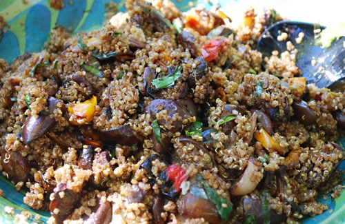 Balsamic Roasted Vegetable Quinoa Salad | food | Pinterest