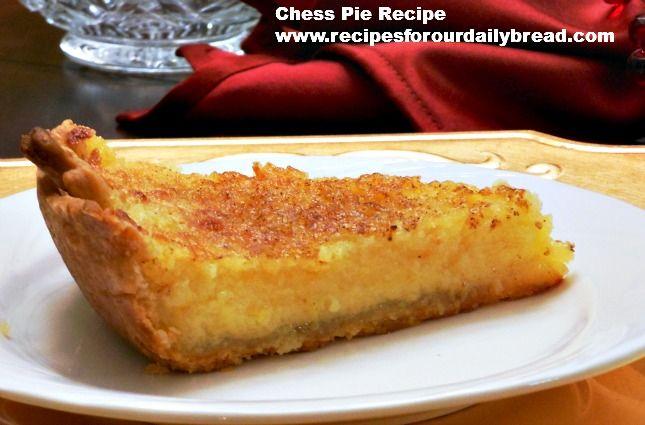 Chess Pie – A Southern Favorite Dessert http ...